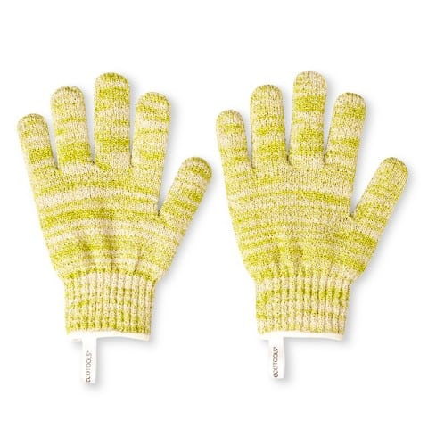 Exfoliate, exfoliating gloves, eco gloves, target