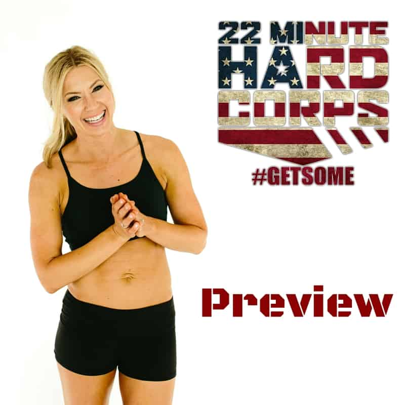 at home workout, tony horton, Review, preview, gluten-free mom, military, basic training, core work, 22 Minute Hard Corps, 22 Minute Hard Corps Preview,