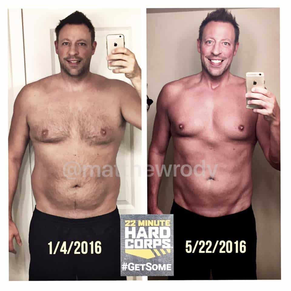 matt rody, transformation tuesday, 22 minute hard corps, getsome, tony horton, functional fitness, fitness, exercise, transformation